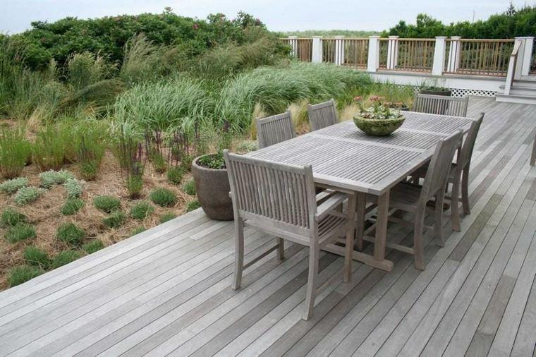 Decoracion de jardines y terrazas 35 ideas modernas for Bancos de terraza y jardin