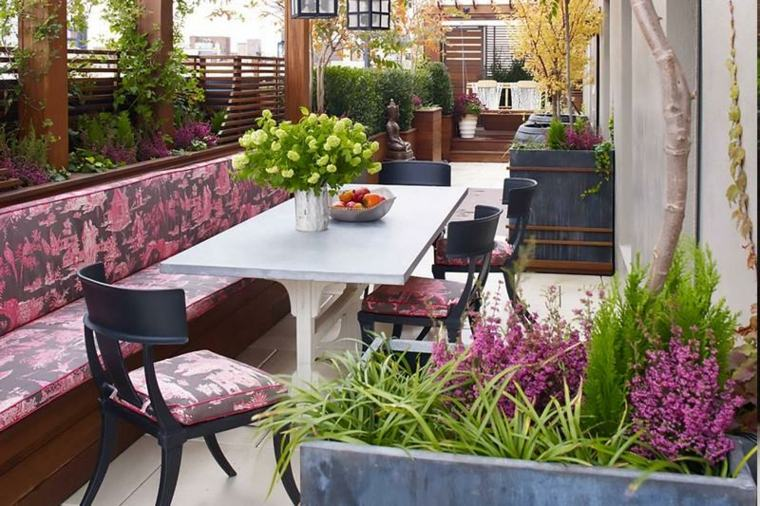 Decoracion de jardines y terrazas 35 ideas modernas for Decoracion para patios y jardines