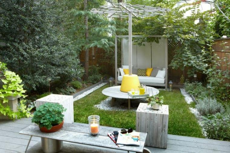 Decoracion de jardines y terrazas 35 ideas modernas for Decoracion de canteros y jardines
