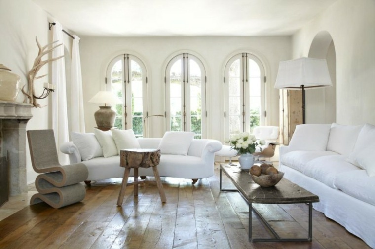 Salones en blanco descubra los 100 interiores m s modernos for Decoracion interior blanco