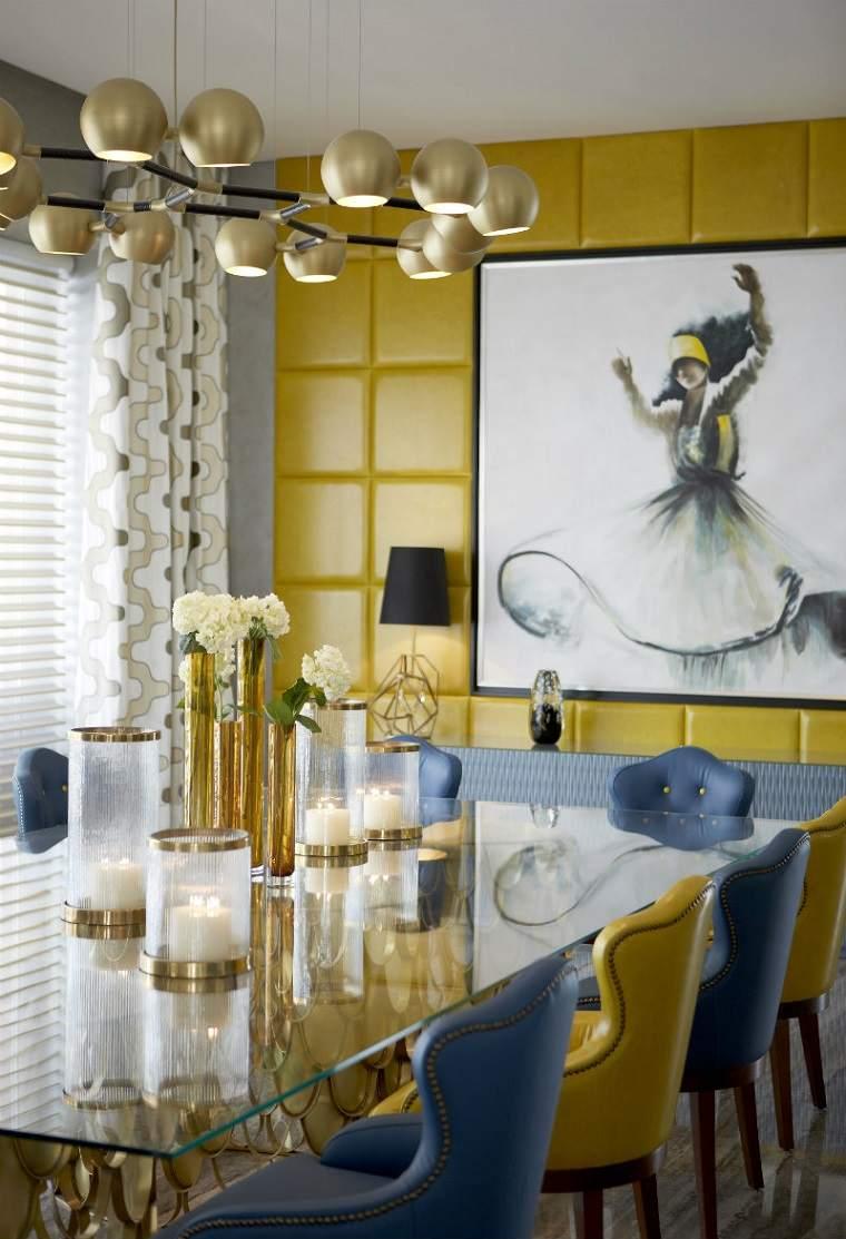 decoracion interiores verano comedor muebles cuero ideas