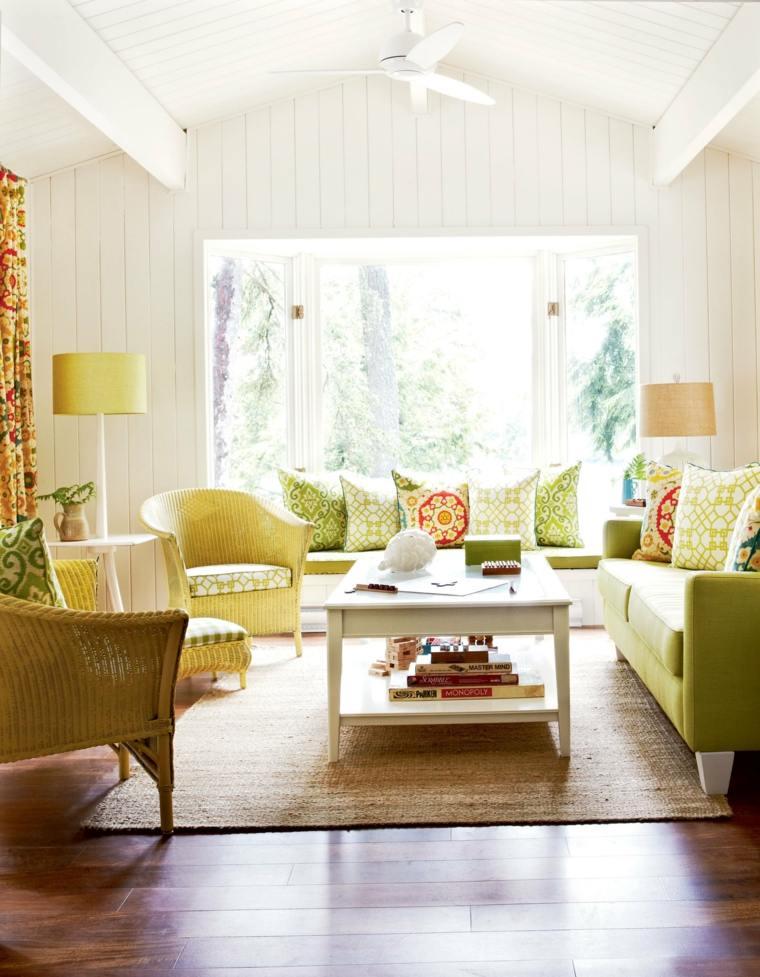 decoracion interiores verano salon soleado ideas