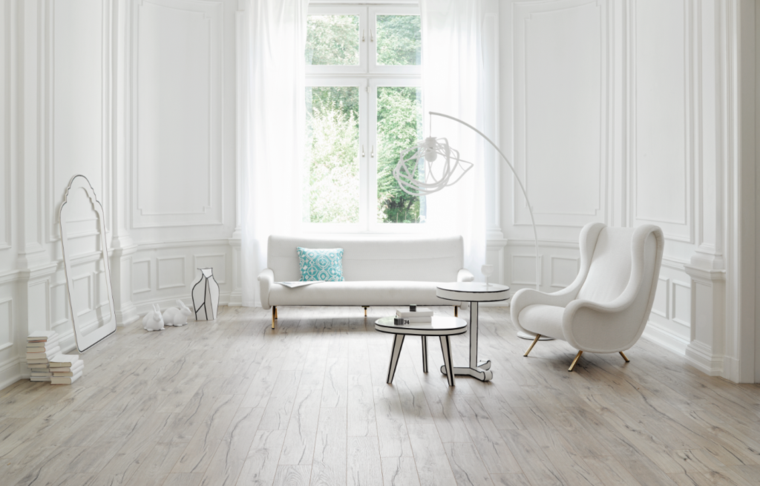 decoracion minimalista retro salones en blanco