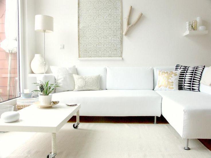 sala estar sofá blanco