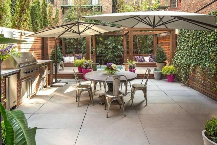 decoracion romantica jardin pequeno cocina ideas