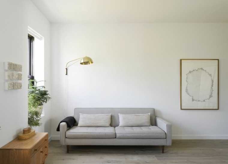 Decoración Sala De Estar Gris ~  ideas de salones en blanco para encontrar maneras de aumentar el