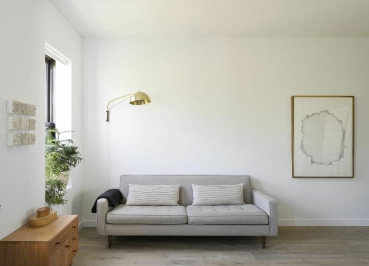 decoracion sencilla pared sala blanca