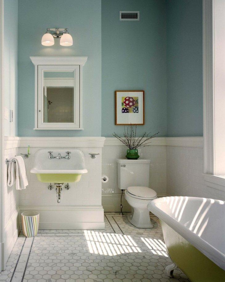 decoracion vintage baños estilos calidos