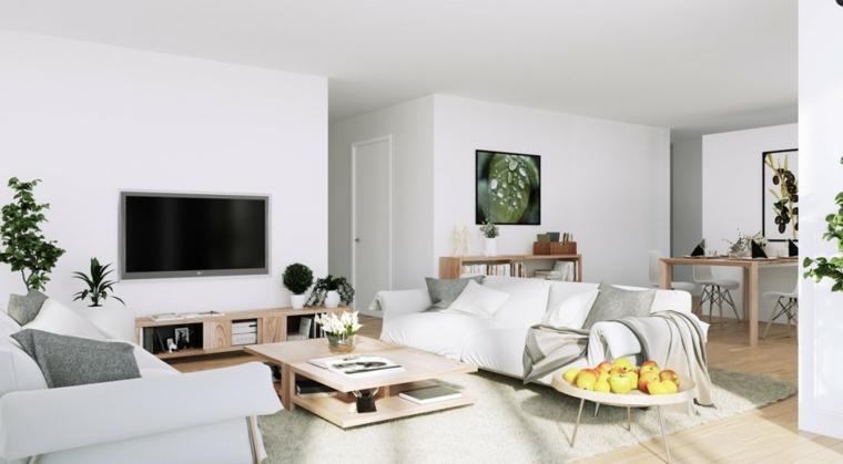 decoracion salones blancos modernos