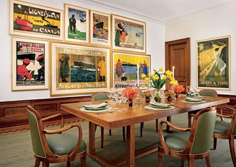decorar comedor moderno cuadors bonitos pared ideas