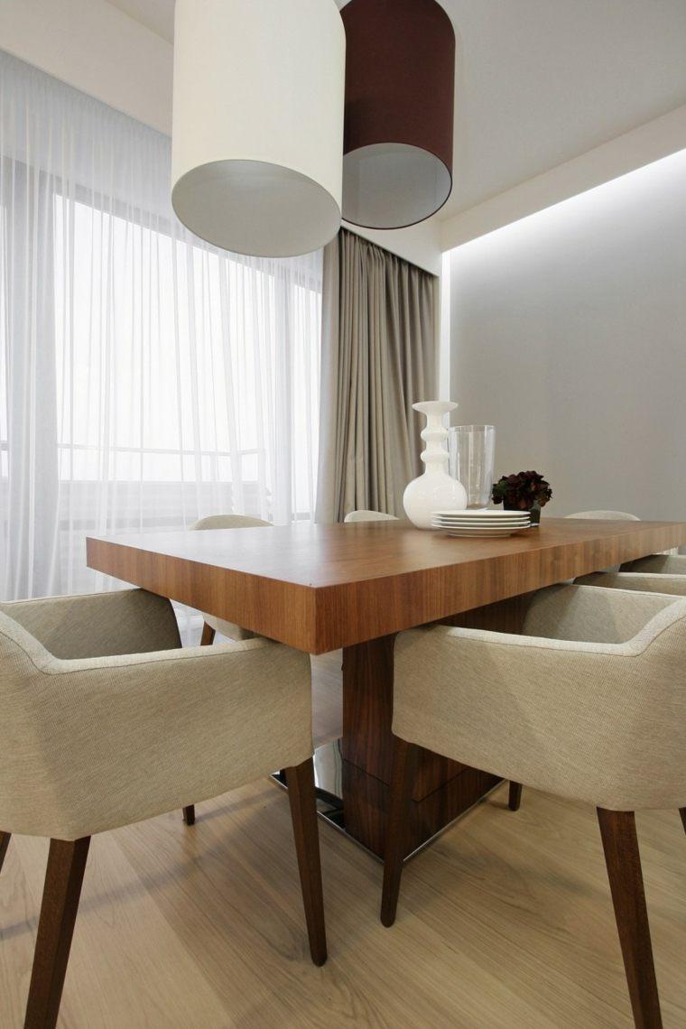Decorar comedor peque o 55 ideas y consejos for Mesas de comedor grandes de madera