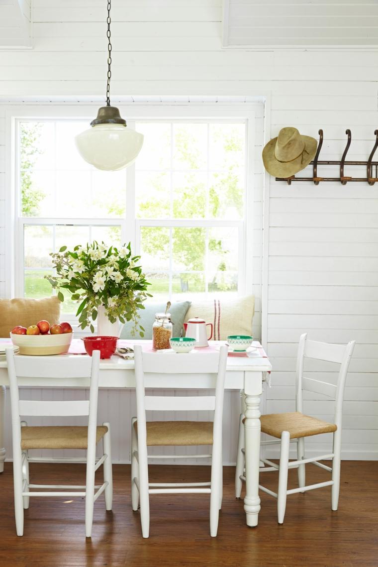 decorar comedor moderno mesa sillas madera ideas