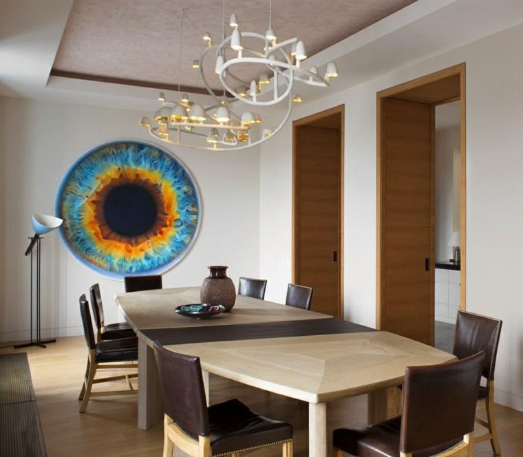 decorar comedor moderno opciones pared enfoque ideas