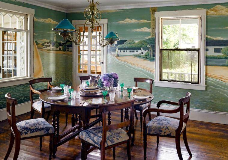 decorar comedor moderno pared preciosa ideas