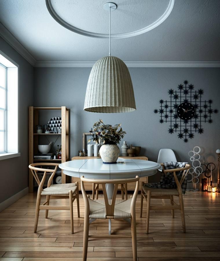 decorar comedor moderno sillas madera preciosas ideas
