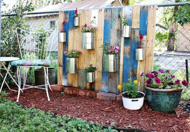 decorar muros fachadas latas plantas