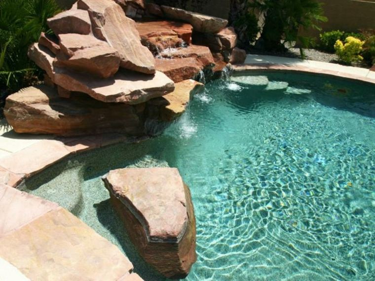 desembocando piscina tradicional partes diseño