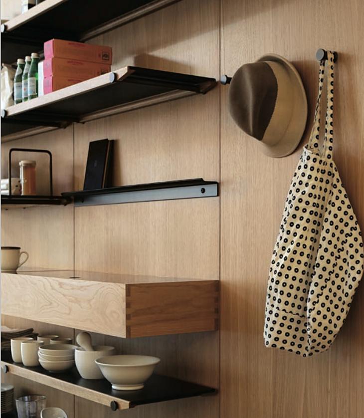 diseño detalles estantes abiertos madera diseños