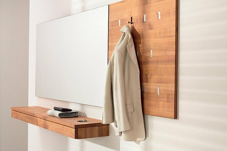 diseño detalles paredes madera ropas espejos