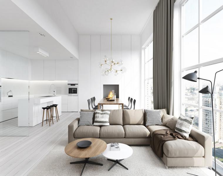 diseños interiores color blanco