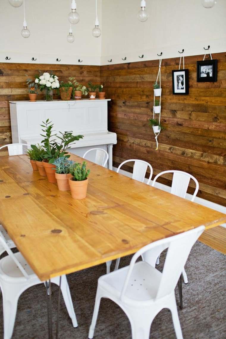 diseño moderno paredes interiores madera