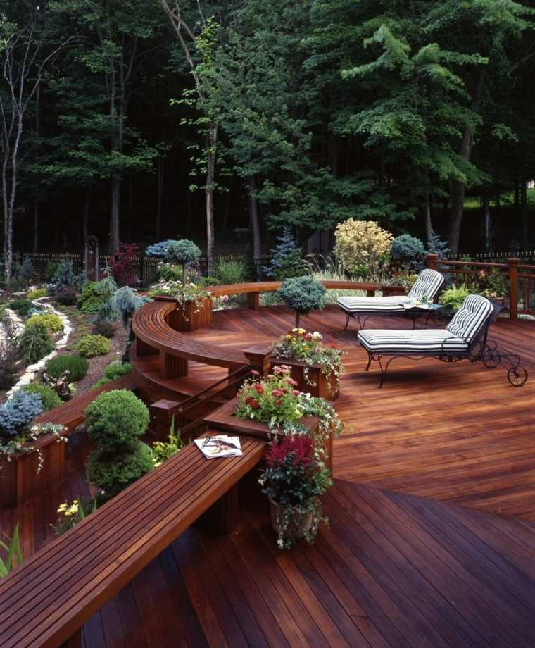 diseno contemporaneo terraza madera acogedor ideas