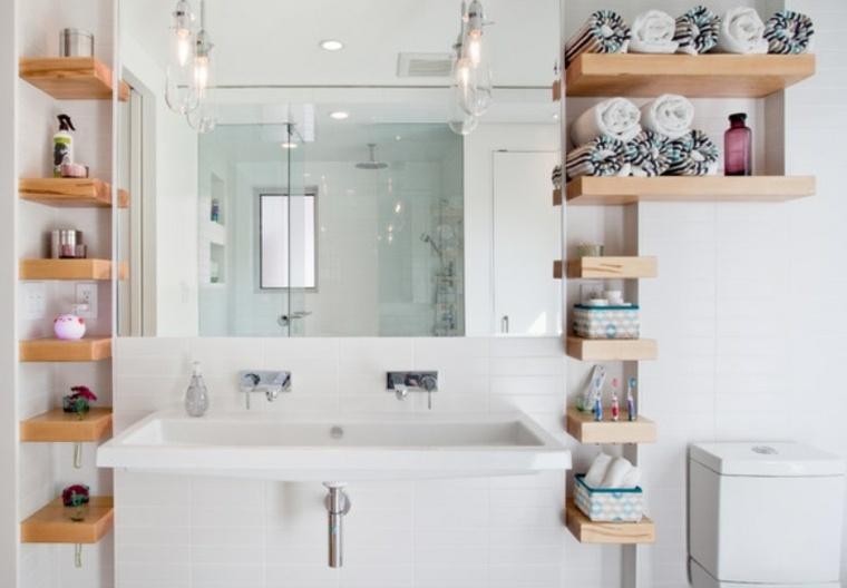 baos pequeos modernos diseno estantes bano pequeno moderno with diseo baos pequeos modernos - Baos Pequeos De Diseo