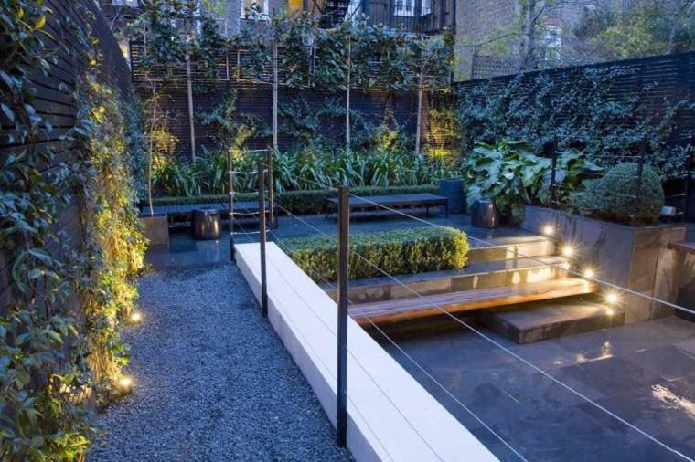 diseno jardin terraza plantas trepadoras