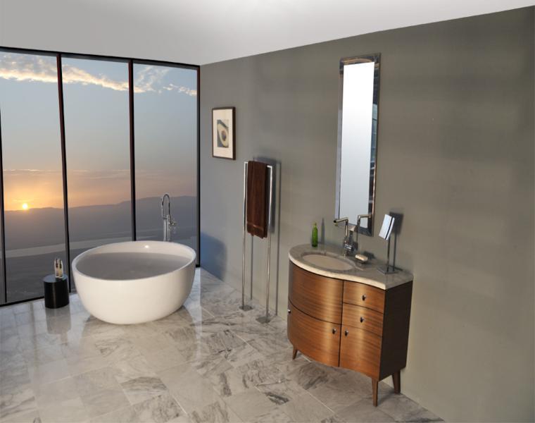 diseno moderno pared color gris