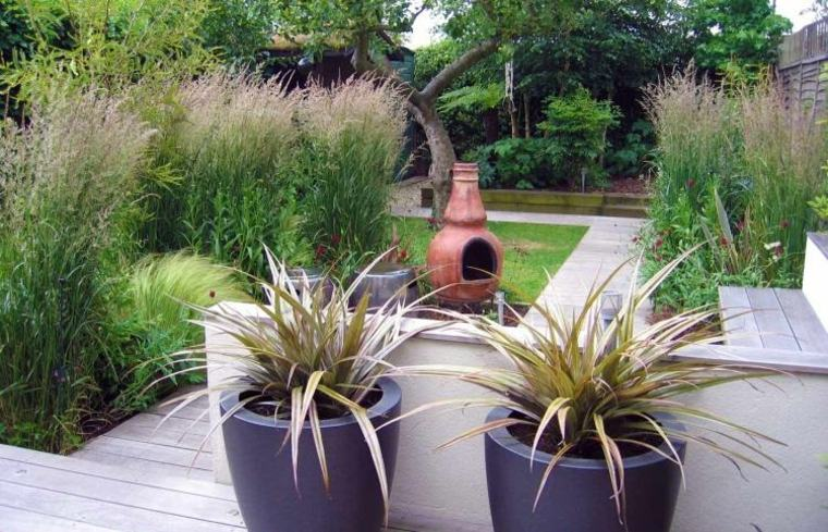 Decoracion de jardines y terrazas 35 ideas modernas for Decoracion macetas jardin