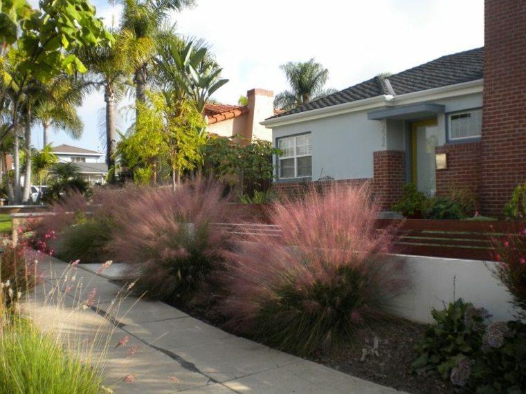 diseno paisaje moderno jardin plantas