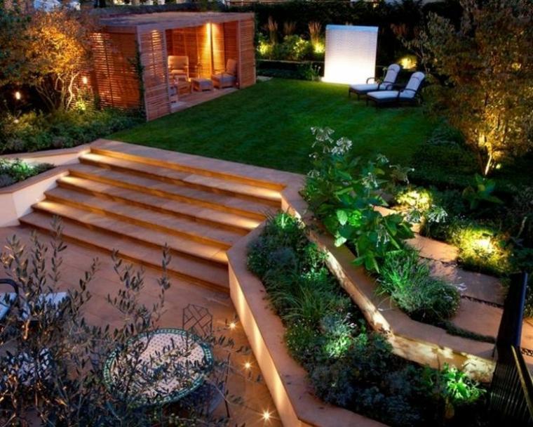 diseno paisaje moderno terraza escaleras