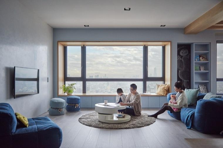 diseno sala estar apartamento moderno