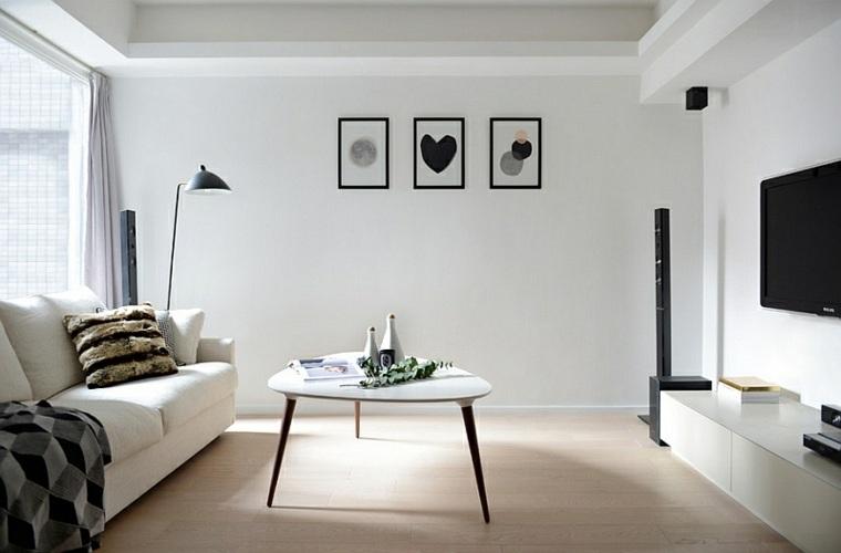 diseno sencillo sala color blanco