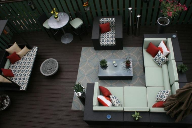 diseno terraza moderna muebles jardin