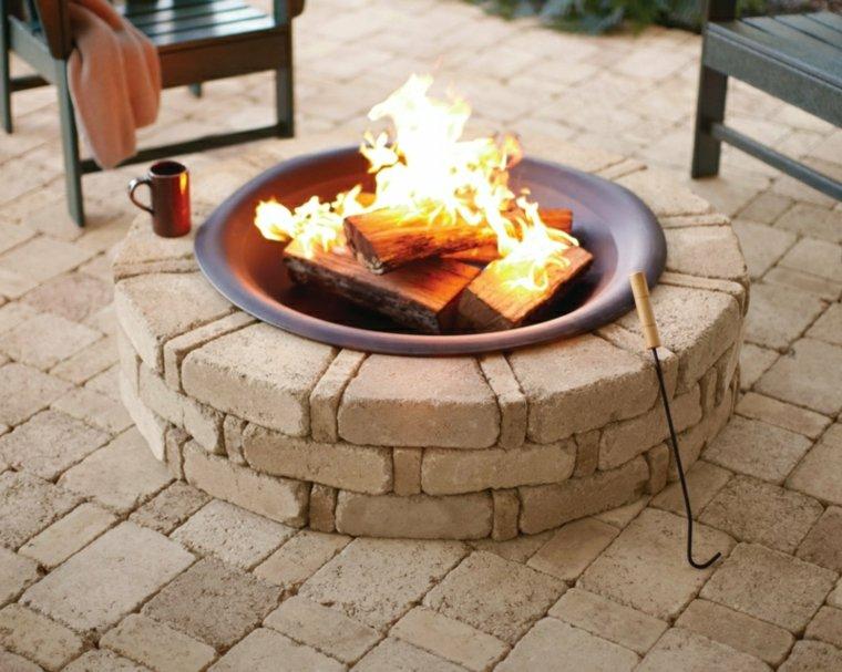 pozo de fuego redondo