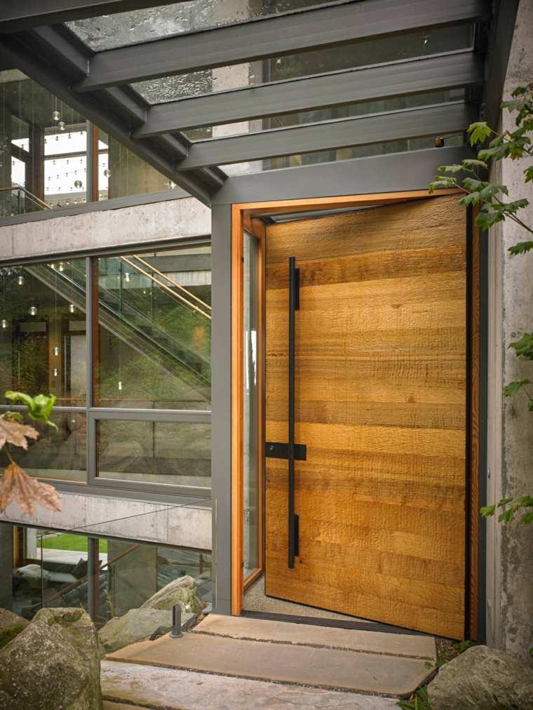 Puertas de entrada de dise o moderno 49 modelos for Precios de puertas de madera entrada principal