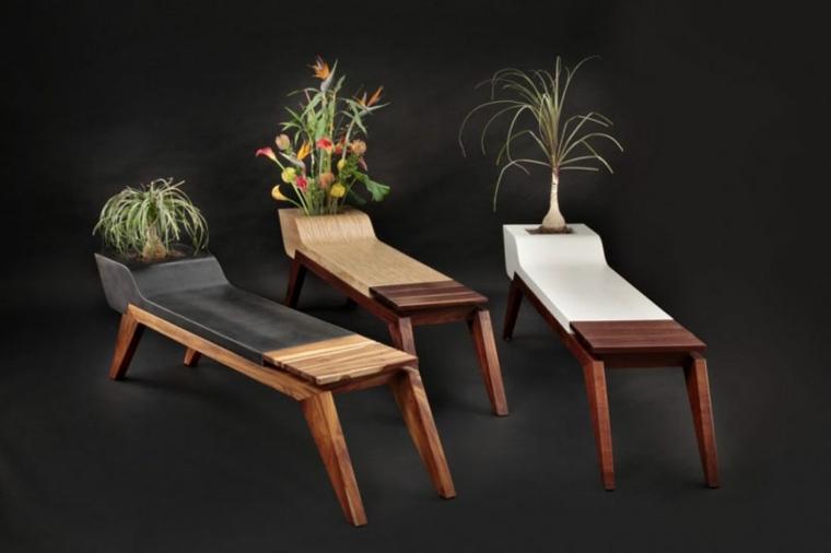 disenos de muebles bancos plantas opciones ideas