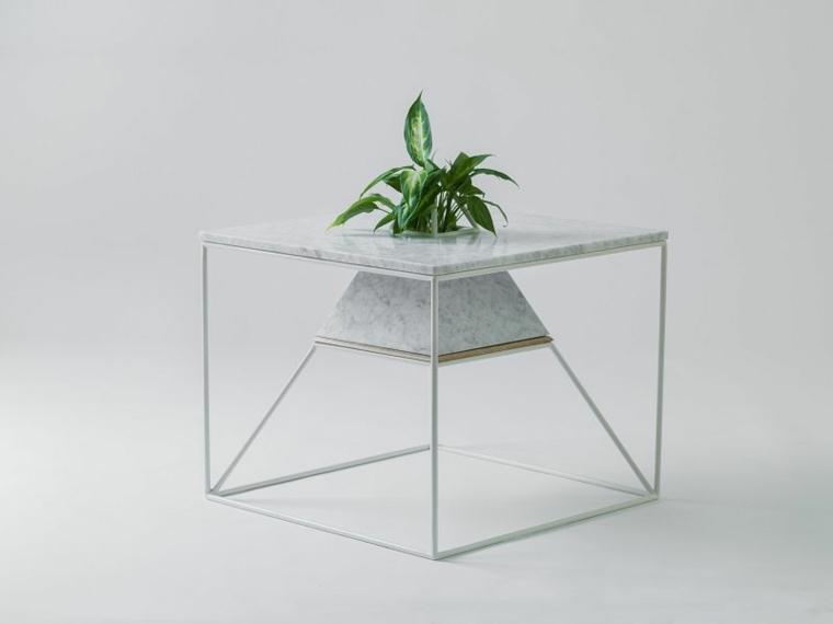 disenos de muebles de sala bonita mesita pequena planta ideas