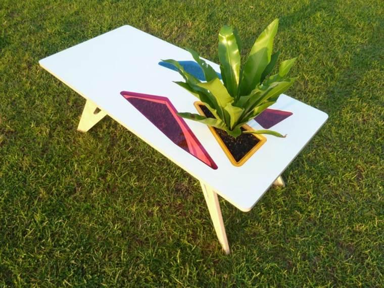 disenos de muebles de sala comoda mesita blanca planta ideas
