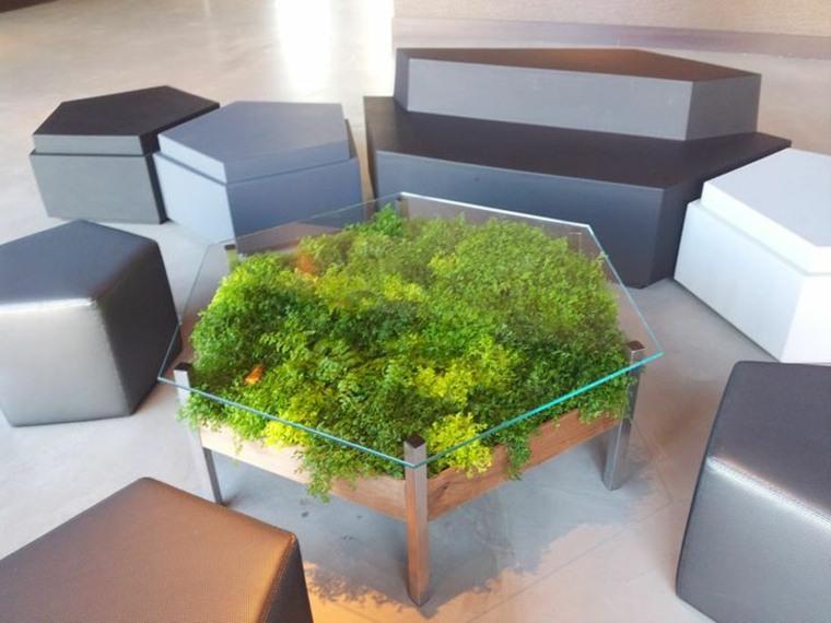 Dise os de muebles de sala o jard n con plantas for Muebles para plantas
