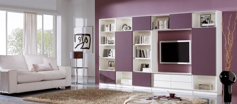 dispositivos de almacenamiento estanteria color rosa madera ideas