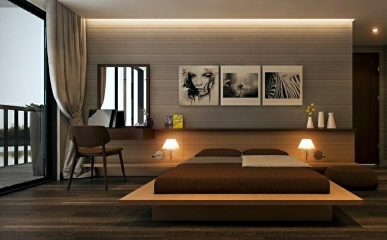 dormitorio iluminacion cuadros decorando pared ideas