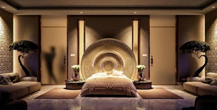 dormitorio iluminacion diseno asiatico bonsai ideas