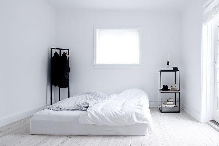dormitorio estilo minimalista blanco negro