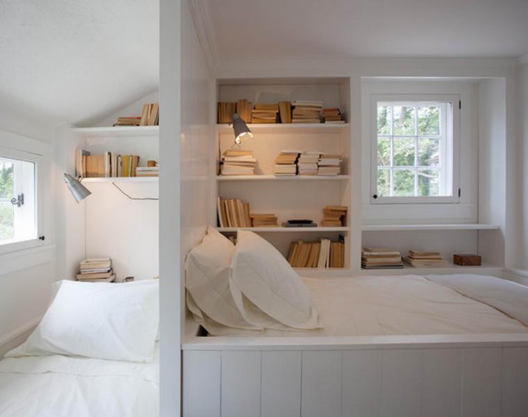 habitaciones pequeñas decoradas blanco