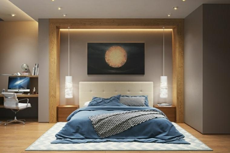 dormitorios originales iluminacion lamparas colgando bajito ideas