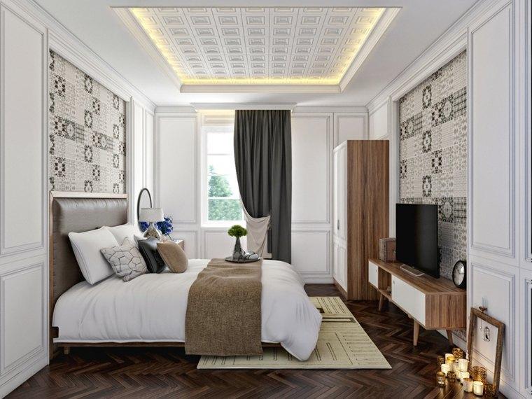 Dormitorios originales con iluminaci n brillante - Lamparas de pared para dormitorios ...