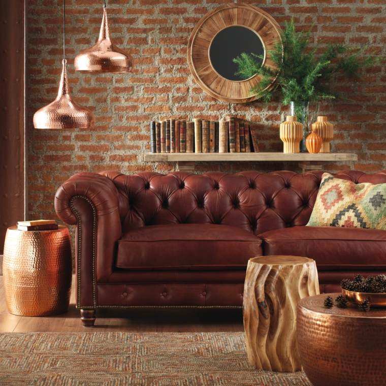 el corte ingles muebles piel estructura madera espejos