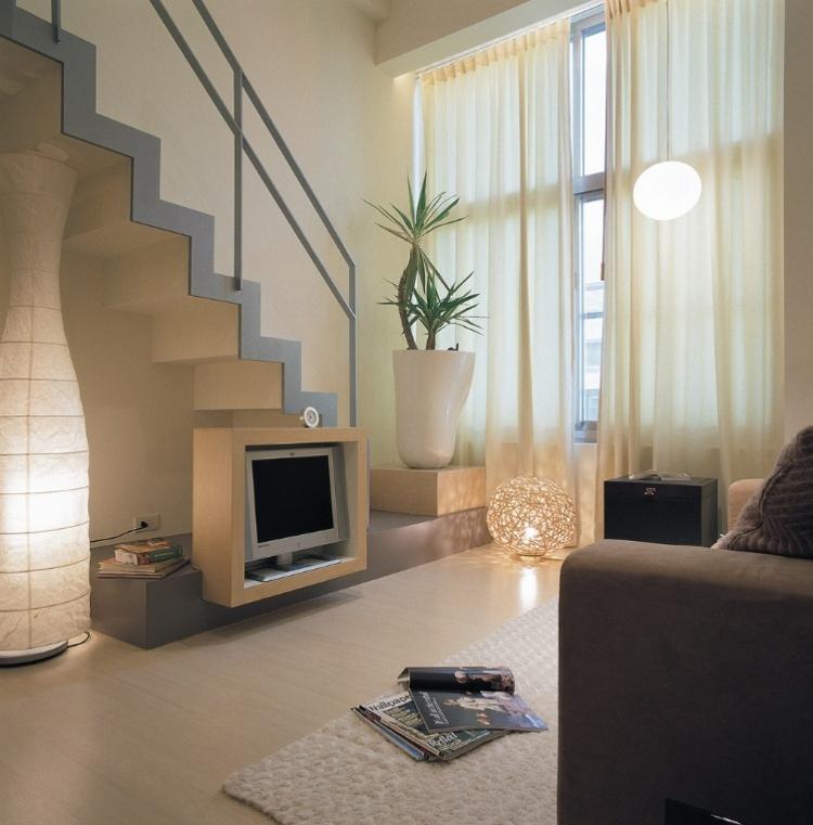 Salones peque os decoracion en 55 ideas geniales de xito - Salones con escaleras ...